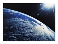 Satellite View of a Planet Earth Fine-Art Print