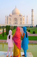 Hindu Women with Veils in the Taj Mahal, Agra, India Fine-Art Print