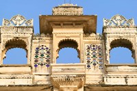 Architectual detail on City Palace, Udaipur, Rajasthan, India Fine-Art Print