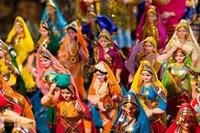 Figurines at the Saturday Market, Goa, India Fine-Art Print