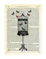 Bird Cage & Butterflies Fine-Art Print