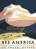 See America - Welcome to Montana I Fine-Art Print