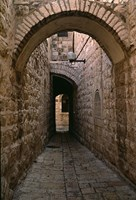 Arch of Jerusalem Stone and Narrow Lane, Israel Fine-Art Print