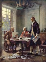 Writing the Declaration of Independence, 1776 Fine-Art Print