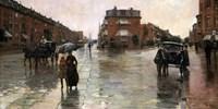 Rainy Day, Boston, 1885 Fine-Art Print
