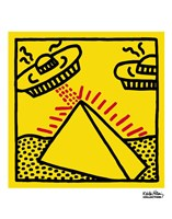 Untitled, 1984 (pyramid with UFOs) Fine-Art Print