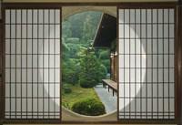 Tea House Window, Sesshuji Temple, Kyoto, Japan Fine-Art Print