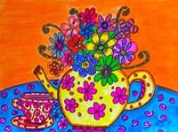 Tea Pot Of Flowers Fine-Art Print