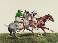 Polo - two horses Fine-Art Print