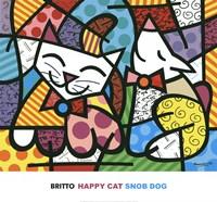 Happy Cat and Snob Dog Fine-Art Print