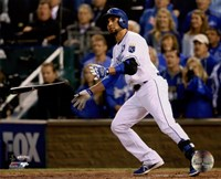 Omar Infante Game 2 of the 2014 World Series Action Fine-Art Print