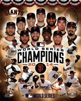 San Francisco Giants 2014  World Series Champions Composite Fine-Art Print