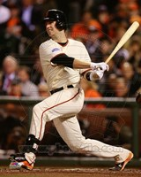 Buster Posey Game 4 of the 2014 World Series batting Fine-Art Print