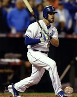 Mike Moustakas Game 6 of the 2014 World Series Action Fine-Art Print
