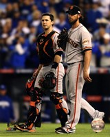 Buster Posey & Madison Bumgarner Game 7 of the 2014 World Series Fine-Art Print