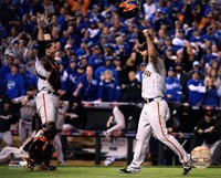 Buster Posey & Madison Bumgarner celebrate winning Game 7 of the 2014 World Series Fine-Art Print