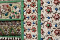 Bell Tower porcelain patterns, Grand Palace, Bangkok, Thailand Fine-Art Print