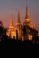 Wat Phra Si Sanphet Temple , Ayutthaya, Thailand Fine-Art Print