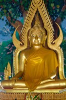Thailand, Ko Samui, Golden Buddha, Prayer House Fine-Art Print