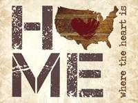 Home - Where the Heart is II Fine-Art Print