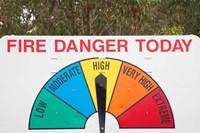Fire Danger Warning Sign, Queensland, Australia Fine-Art Print