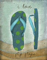 I Love Flip-flops Fine-Art Print