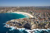 Australia, New South Wales, Sydney, Bondi Beach - aerial Fine-Art Print