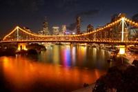 Australia, Queensland, Story Bridge, Brisbane River Fine-Art Print