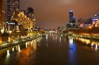 Australia, Victoria, Melbourne, Yarra River, City Skyline Fine-Art Print
