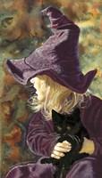 Three Wishes - Witch Way, Black Cat Fine-Art Print