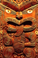 Historic Maori Carving, Otago Museum, New Zealand Fine-Art Print