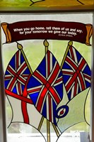 Union Jack flag, St James, North Island, New Zealand Fine-Art Print