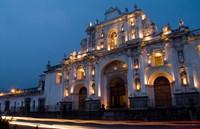 Cathedral in Square, Antigua, Guatemala Fine-Art Print