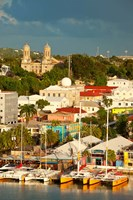 Cathedral, harbor, St Johns, Antigua, West Indies Fine-Art Print