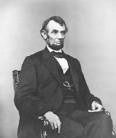Civil War era painting of President Abraham Lincoln Fine-Art Print