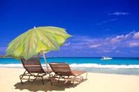 Beach Umbrella, Abaco, Bamahas Fine-Art Print