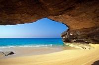 Cave at French Bay, San Salvador Island, Bahamas Fine-Art Print