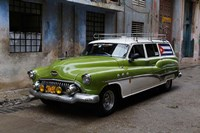 1950's era antique car and street scene from Old Havana, Havana, Cuba Fine-Art Print