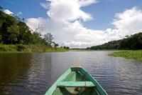 Dugout canoe, Boat, Arasa River, Amazon, Brazil Fine-Art Print