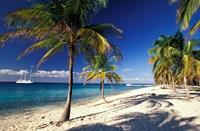 Tropical Beach on Isla de la Juventud, Cuba Fine-Art Print
