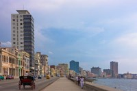 Malecon street along the waterfront, Havana, UNESCO World Heritage site, Cuba Fine-Art Print