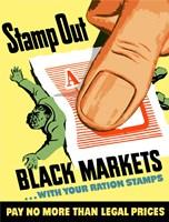 Stamp Out Black Markets Fine-Art Print