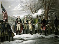 General George Washington and his Military Commanders Fine-Art Print
