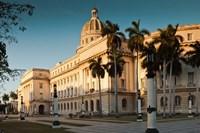 Cuba, Havana, Capitol Building, sunset Fine-Art Print