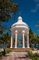 Wedding gazebo, Riu Palace, Bavaro Beach, Higuey, Punta Cana, Dominican Republic Fine-Art Print