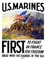 US Marines First Fine-Art Print