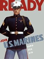 Marine Corps Recruiting Poster from World War II Fine-Art Print