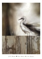 Sea Mist & the Egret Fine-Art Print