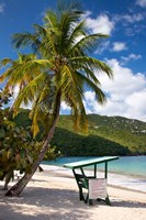 Beach, Lifeguard post, St Thomas, US Virgin Islands Fine-Art Print