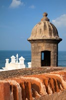 Lookout tower at Fort San Cristobal, Old San Juan, Puerto Rico, Caribbean Fine-Art Print